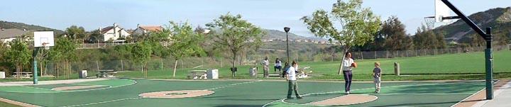 Trabuco Canyon basketball court